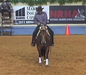 Spook Off Sparks, ridden by Fappani NRHA FUTURITY 2011 Open Lev. 4 Reserve Champion
